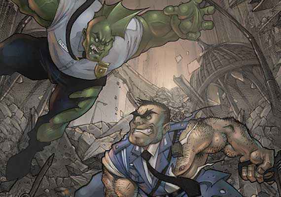 Manga VS Comic characters. Savage Dragon VS Ryotsu.<br><h7>Painter Essentials 4 | Photoimpact X3</h7>